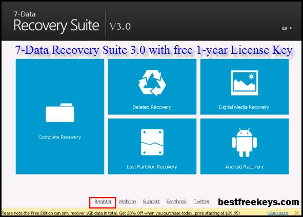 Free 7 Data Recovery Serial Key