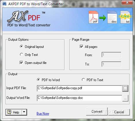 AXPDF PDF to Word Converter 2016