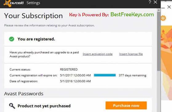 Avast Activation Code for Free Antivirus