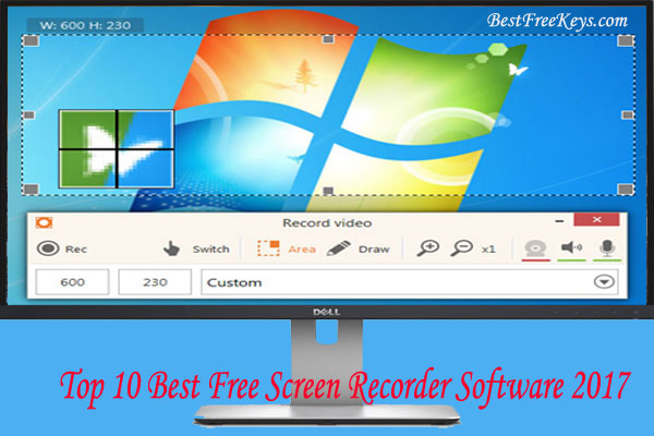 Best Free Screen Recorder Software 2017