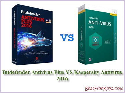 Bitdefender Antivirus Plus VS Kaspersky Antivirus Comparison 2016