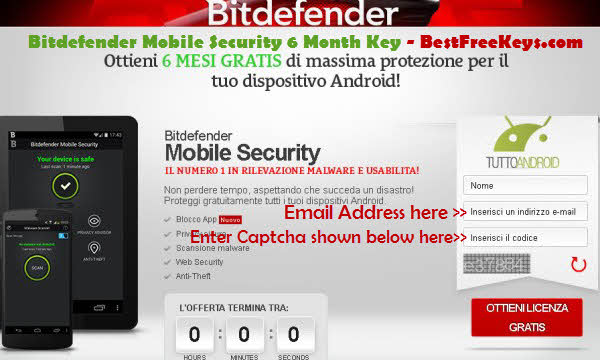 Bitdefender Mobile-security license Key Free