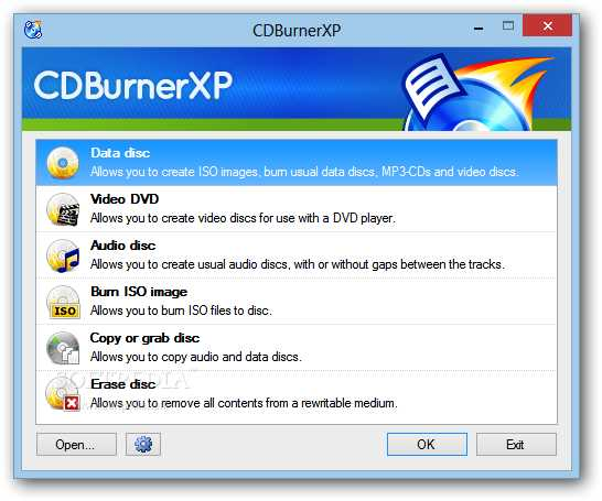 CDBurnerXP dvd burning