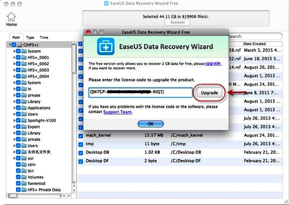 easeus data recovery software license code