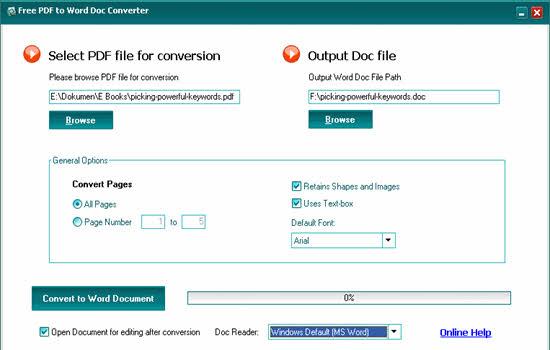 HelloPDF free pdf to word converter 2016
