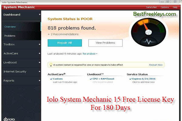 Iolo System Mechanic Activation Key