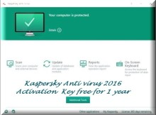 Kaspersky Antivirus 2016 Activation Key