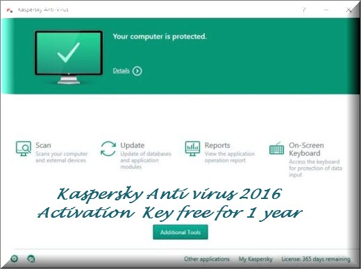 kaspersky antivirus activation code 2018