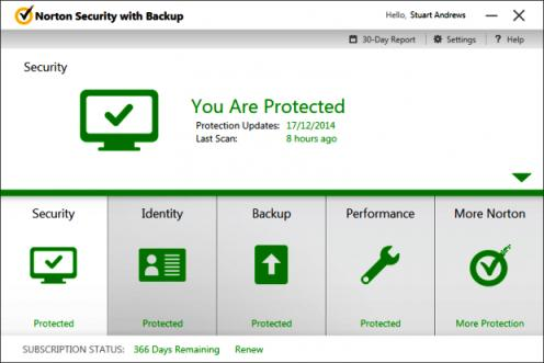 Norton Internet Security with Backup 2016