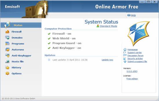 Online Armor Free Firewall 2016