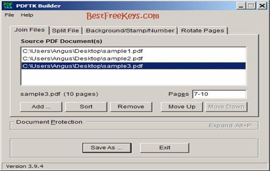 PDFTK Builder Free PDF Editor Software 2016