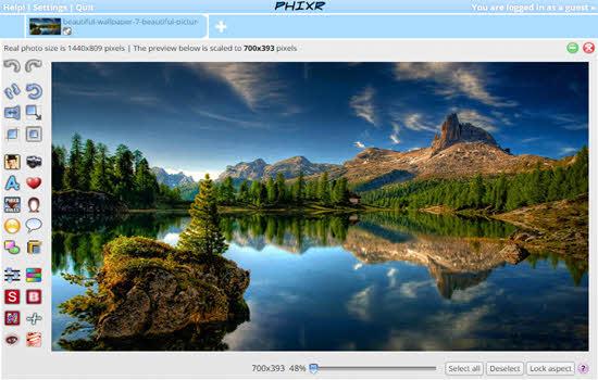 Phixr Online picture Editor 2016
