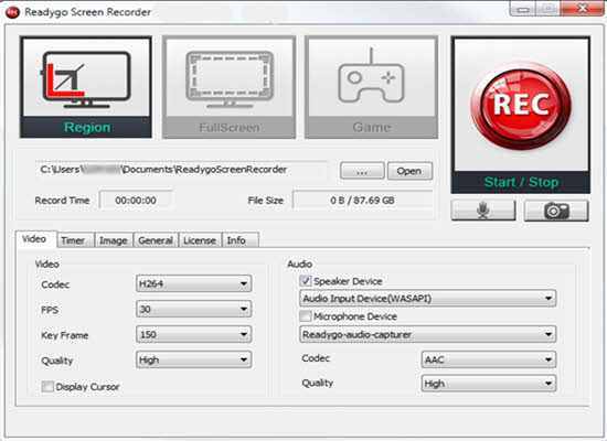 ReadyGo Screen Recorder 2016