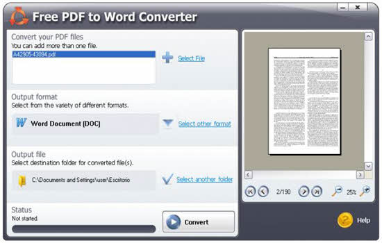 SmartSoft Free PDF to Word Converter 2016