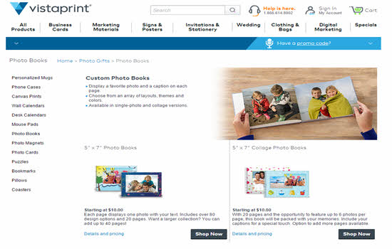 Vista print Online photo Books 2016