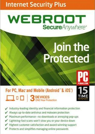 Webroot Secure Anywhere Internet Security Plus 2016