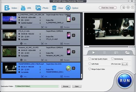 WinX HD Video Converter Deluxe Full Version