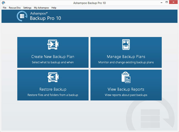 Ashampoo Backup Key Features