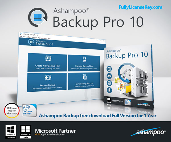 Ashampoo Backup Serial Key