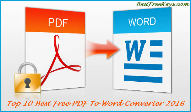 best free pdf to word converter