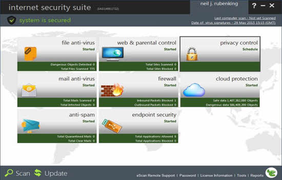 escan internet security suite 2016