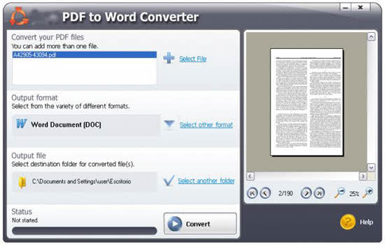 Pdf to ms word converter software download