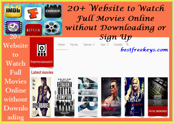 free movie sites no signup or download