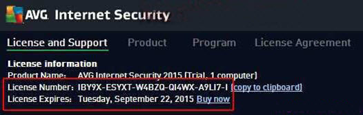 AVG Internet Security 2016 Free license keys