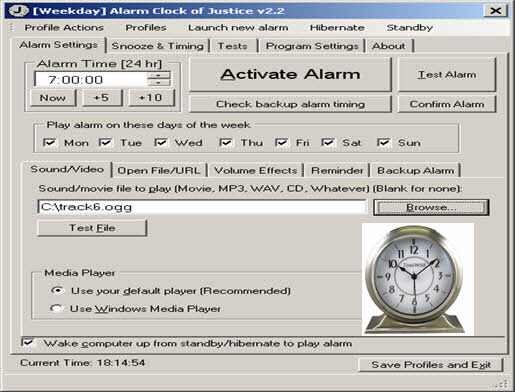 Alarm Clock of Justice 2016