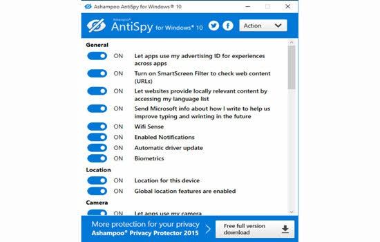 Ashampoo AntiSpy for Windows 10 2016
