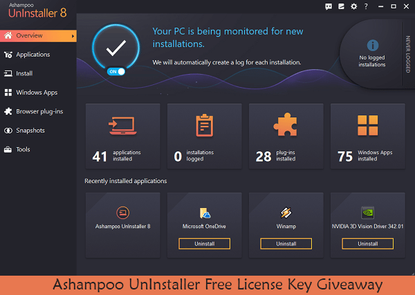 Ashampoo UnInstaller License Key