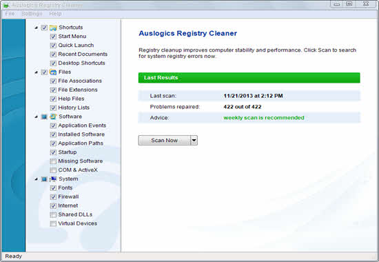 Auslogics Registry Cleaner 2016