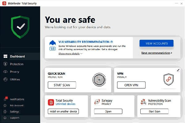 bitdefender Total Security 90 Days Free Trial Version
