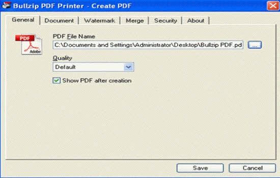 BullZip PDF Printer 2016