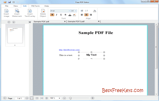 DL Free PDF Editor 2016