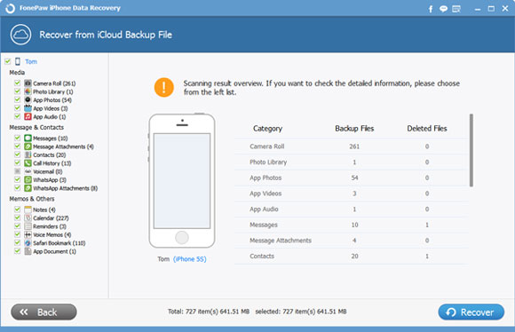 Download And Also Extract The iCloud Backup