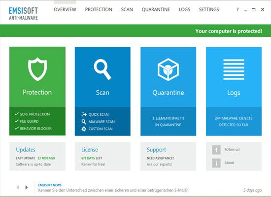 Emsisoft Anti Malware 10 License Key