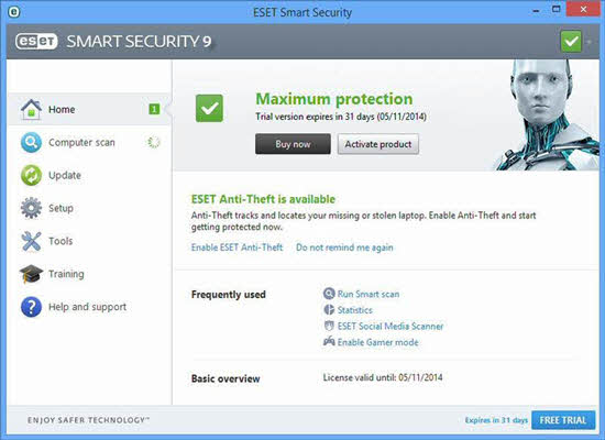 Eset Smart Security 9 License Key