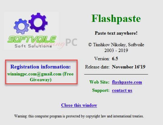 Flashpaste license key