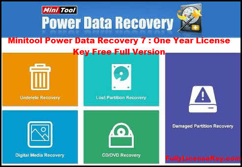 Minitool Power Data Recovery 7 License Key Serial 1 Year Free