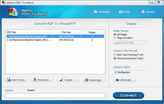 Nemo PDF to Word Converter 2016