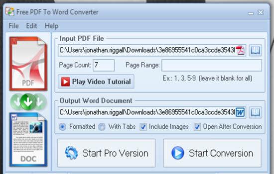 PDF to word converter free 2016