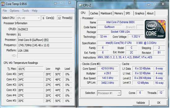 Using Core Temp 2016
