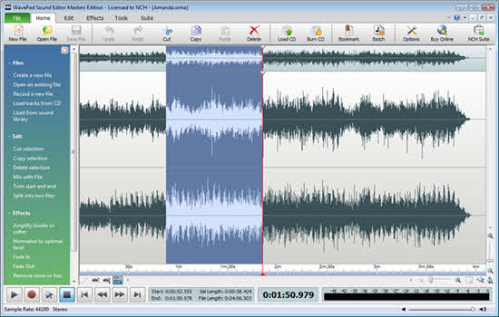WavePad Sound Editor 2016