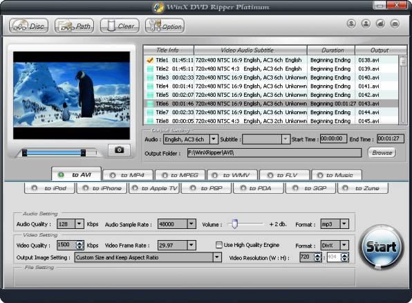 WinX DVD Ripper Platinum dvd ripper