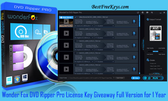 Wonder Fox DVD Ripper Pro License Key