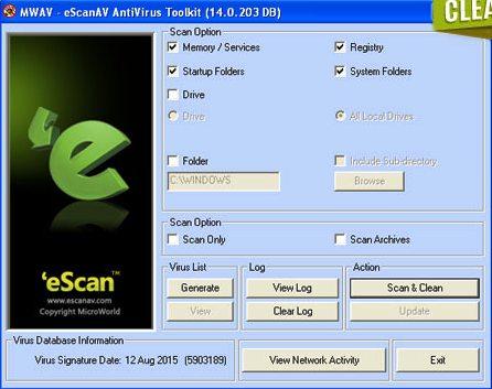 eScan AV Antivirus ToolKit 2016