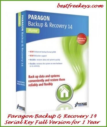 Paragon Backup & Recovery 14 Serial Key