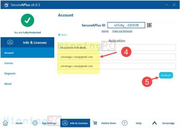 secureaplus essentials license key step 2