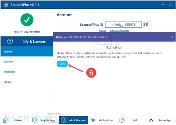 secureaplus essentials license key step 3